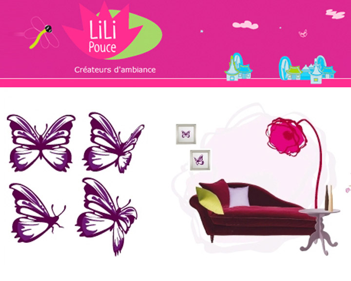lili pouce site de stickers d coratifs maman. Black Bedroom Furniture Sets. Home Design Ideas