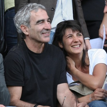 people : Raymond Domenech et Estelle Denis