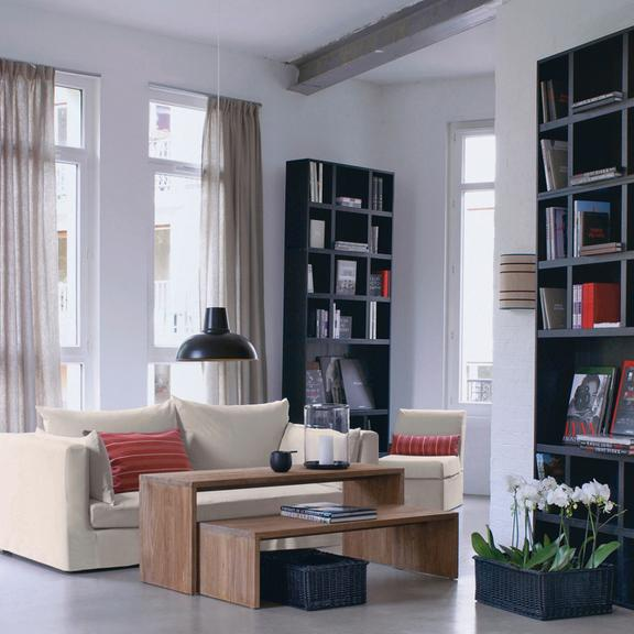 la d co de sarah lavoine pour la redoute le salon cosy. Black Bedroom Furniture Sets. Home Design Ideas