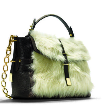 Sac Coach Fur_Top_Handle_Satchel