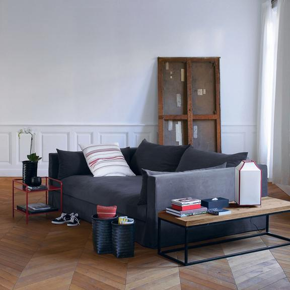 la d co de sarah lavoine pour la redoute le salon contemporain de sarah lavoine d co. Black Bedroom Furniture Sets. Home Design Ideas
