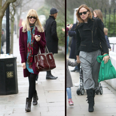 Street style de star Claudia Schiffer et Stella Mc Cartney font du shopping