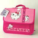 Cartable rose chat