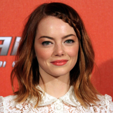 "Emma Stone à Rome lors du photocall de ""The Amazing Spider-man 2"" le 14 avril 2014."