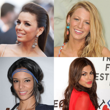 Montage les séductrices de l'année Eva Longoria Shy'm Eva Mendes Blake Lively
