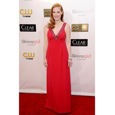Jessica Chastain lors des Critic's Choice Awards 2013 le 10 janvier 2013