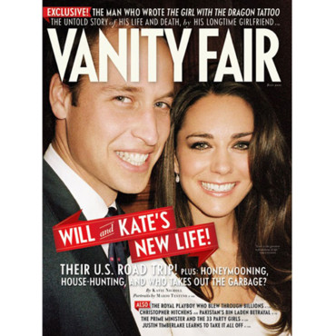 Prince William et Kate Middleton couverture Vanity Fair juillet 2011