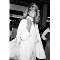 Photo : Farrah Fawcett arrive au Festival de Cannes en 1978