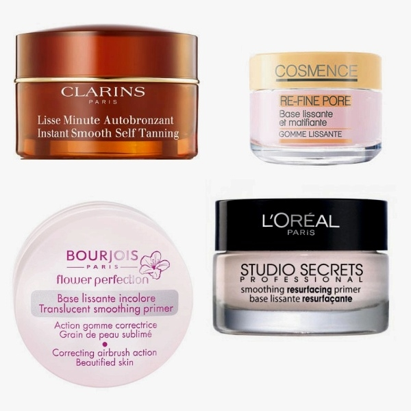 pore minimizer Bourjois, L'Oreal, Clarins, Cosmence soin visage