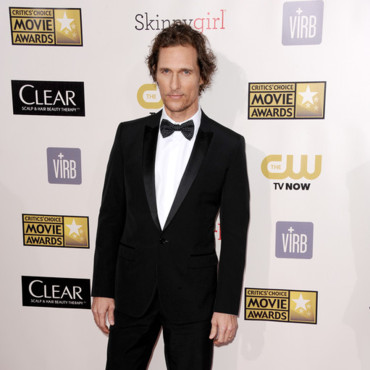 Matthew McConaughey lors des Critic's Choice Awards 2013 le 10 janvier 2013