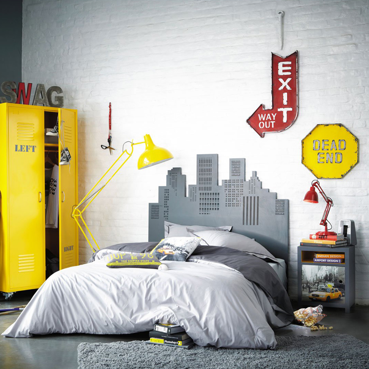 Chambre D Ado Stickers Coussins Lampes Direction New York