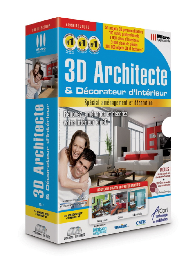 D coration le logiciel pour r ussir sa d co d 39 int rieure for 3d architecte micro application