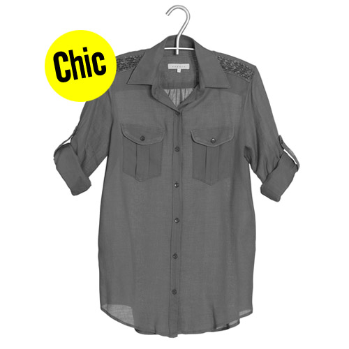 Chemise Sandro à gallons chic