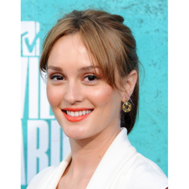 Leighton Meester MTV Music Awards rouge à lèvres flashy juin 2012
