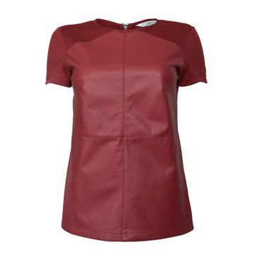 Top en similicuir lie de vin New Look, 49,99 euros