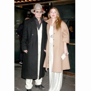 Johnny Depp et Amber Heard à la soirée d'ouverture du Cabaret à Broadway au Studio 54 de New York, le 24 Avril 2014.