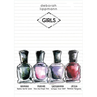 Croquis collection de vernis à ongles Girls de Deborah Lippman