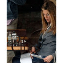 Jennifer Aniston relit son texte sur le tournage de The Baster