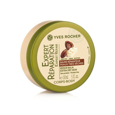 ° Baume corps réparateur Yves Rocher, 150ml, 15€