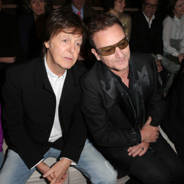 Paul McCartney et Bono au défilé Stella McCartney