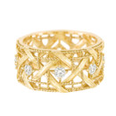 BAGUE MY DIOR OR JAUNE ET DIAMANTS