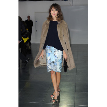 Fashion Week Alexa Chung au défilé Christopher Kane