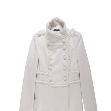 Manteau officier blanc Morgan 179 euros