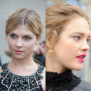 montage looks beauté de star Fashion Week Natalia Vodianova Clémence Poésy