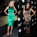 Heidi Klum et Teri Hatcher en robe de cocktail Thomas Wylde