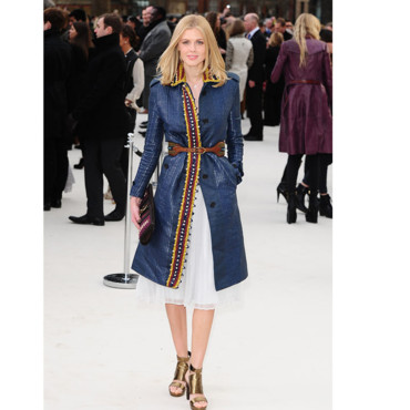 Fashion Week de Londres Donna Air au défilé Burberry