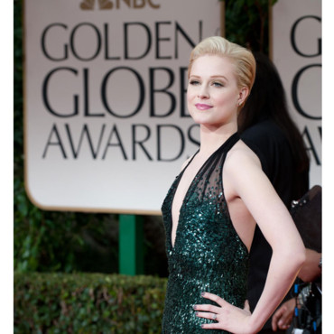Evan Rachel Wood coupe courte coloration blond Golden Globes 2012