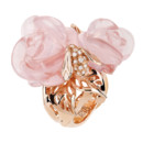 BAGUE ROSE DIOR PRE CATELAN OR ROSE DIAMANTS ET QUARTZ ROSE