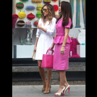 Photo : Kristin Davis et Sarah Jessica Parker dans Sex & The City