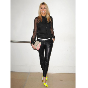 Fashion Week de Londres Tess Daly au défilé Matthew Williamson