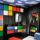 Salle de bains Play d&#039;Eau de Jean-Charles de Castelbajac pour Delpha, meubles composables  partir de 2500 euros