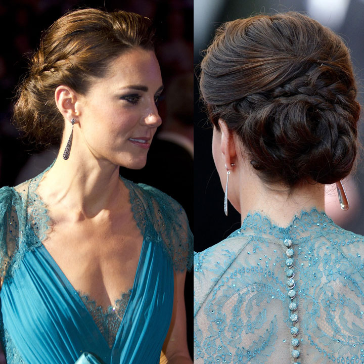 Kate Middleton Son Royal Chignon Tresse Beaute Plurielles Fr