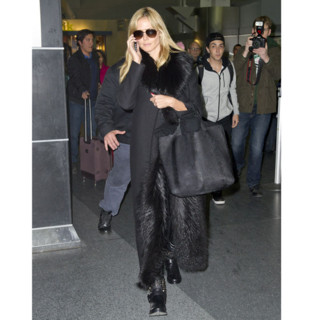 Heidi Klum à l'aéroport JFK à New York City, le 23 Février 2014.