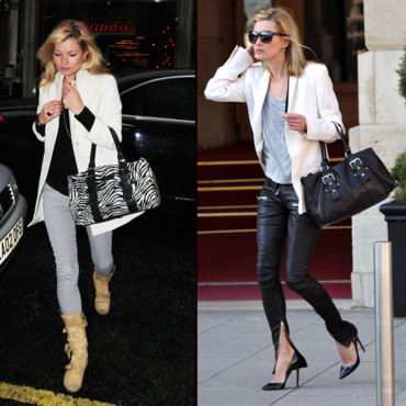 Kate Moss et son sac Longchamp