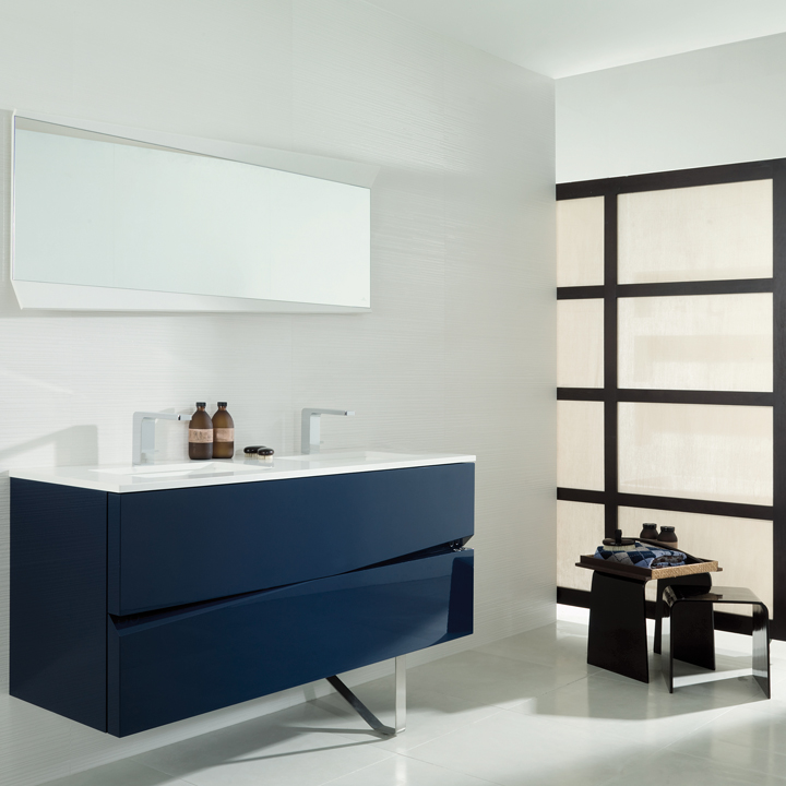 les nouveaut s porcelanosa pour salle de bains porcelanosa la collection origami bleue. Black Bedroom Furniture Sets. Home Design Ideas
