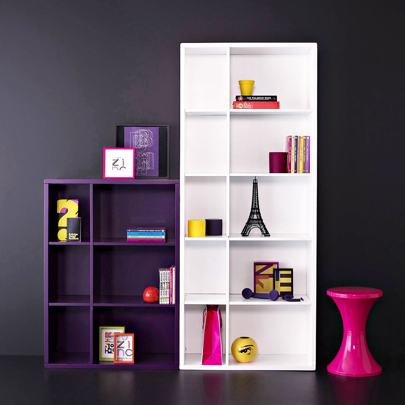 mobilier color 30 meubles pour un int rieur vitamin biblioth que basse 6 niches laque. Black Bedroom Furniture Sets. Home Design Ideas