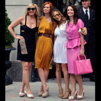 Photo : Kim Cattrall, Sarah Jessica Parker, Cynthia Nixon et Kristin Davis dans Sex and the City 2