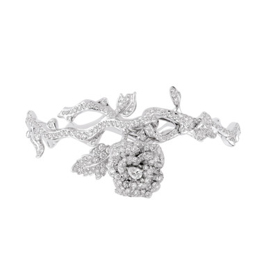 BRACELET ROSE DIOR BAGATELLE OR BLANC DIAMANTS