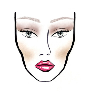 Make Up Nude Dior. Dessin réalisé par Yadim make up designer international Dior