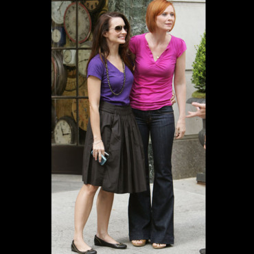 Cynthia Nixon et Kristin Davis dans Sex and the City 2