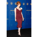 Christina Hendricks dans une robe lie de vin L'Wren Scott