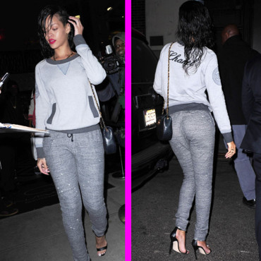 Rihanna et son sweat Chanel