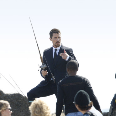 Christian Bale en plein tournage ou en plein fight ?
