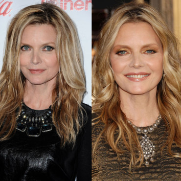 Michelle Pfeiffer Double look beauté