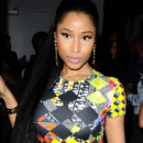 Nicki Minaj au Metropolitan West pour le Défilé Versace de la fashion week de New York le 7 Septembre 2014.