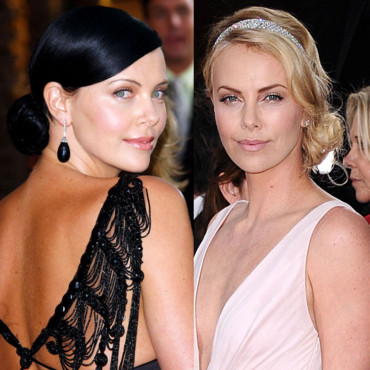 Charlize Theron blonde brune coloration
